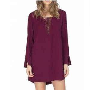 NWT Gentle Fawn Lace Up Brigitte Dress in Carmine